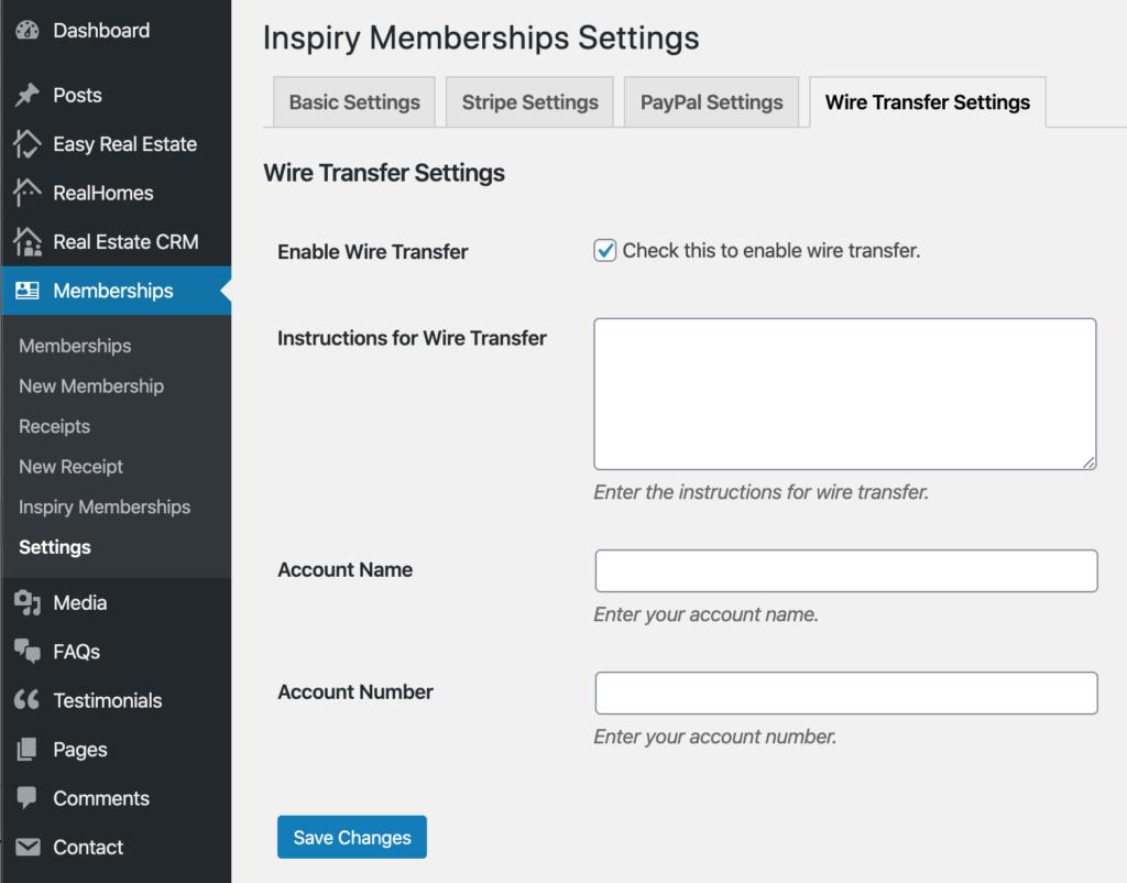 inspiry membership plugin